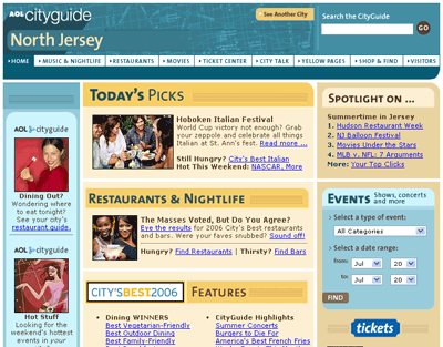 AOL CityGuide North Jersey, before
