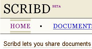 Scribd beta header, 2006-11-02