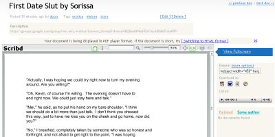 Scribd screenshot, 2007-03-19