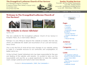 Screenshot of oursaviourchurch.org, 2007-04-11
