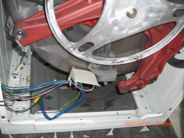 Bosch WFK2401UC inside, without motor