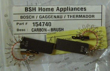 New Bosch carbon brushes, PN 154740