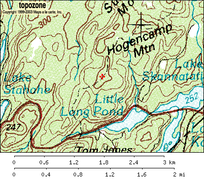 Topographic map of Harriman State Park, Black Rock Mountain, Bald Rocks (Topozone.com)