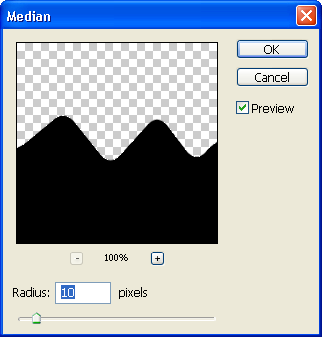 Apply median filter
