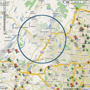 DSLreports.com Verizon FiOS map for Butler, NJ