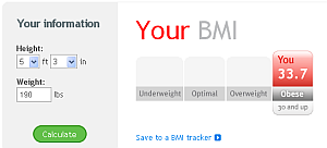BMI 33.7 is OBESE!