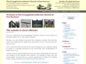 Screenshot of oursaviourchurch.org, 2007-04-11
