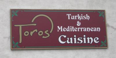 Toros Restaurant's sign