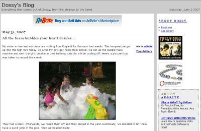 dossy.org blog design before June 2007