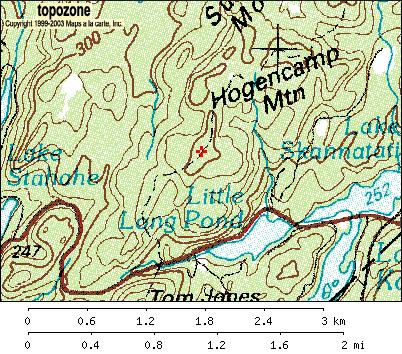 Topographic map of Harriman State Park, Black Rock Mountain, Bald Rocks (Topozone.com)