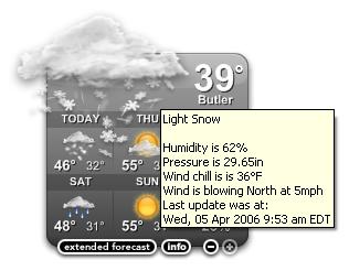 Yahoo! Weather: Butler, NJ on April 5, 2006